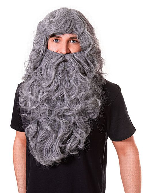 Grey Wizard Wig And Beard