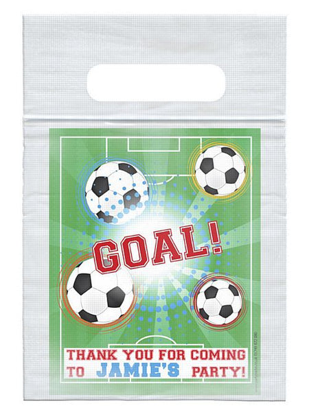 Personalised Football Themed Card Insert With Sealed Party Bag - Each