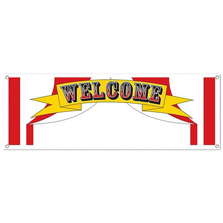 Click to view product details and reviews for Welcome Sign Banner 152m.