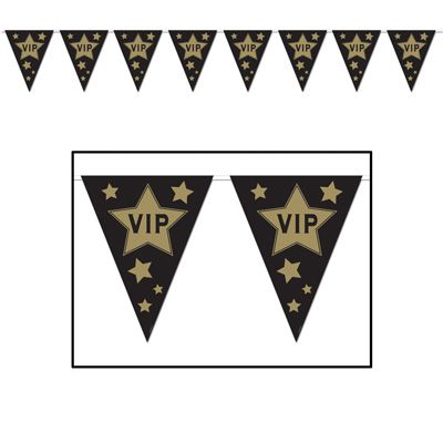 VIP 'All Weather' Flag Bunting - 3.7m (12') - 12 Flags