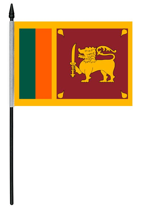 "Sri Lanka Cloth Table Flag - 4"" x 6"""