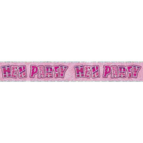 Pink Hen Party Banner - 2.7m