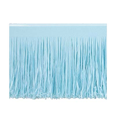 Light Blue 6-Ply Tissue Fringe Drape - 3.05m