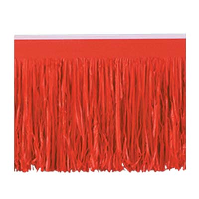 Red 6-Ply Tissue Fringe Drape - 3.05m