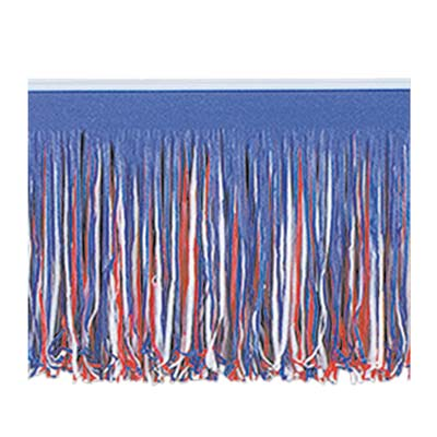 Red, White & Blue 6-Ply Tissue Fringe Drape - 3.05m