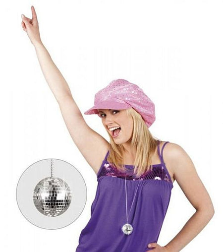 Click to view product details and reviews for Silver Disco Ball Necklace.