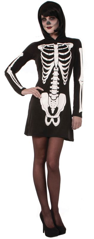 Click to view product details and reviews for Hooded Skeleton Dress.