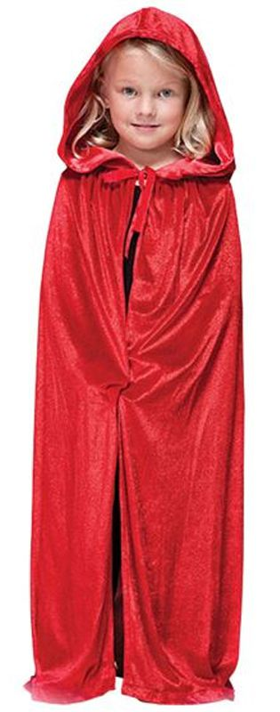 Childs Red Velvet Cape