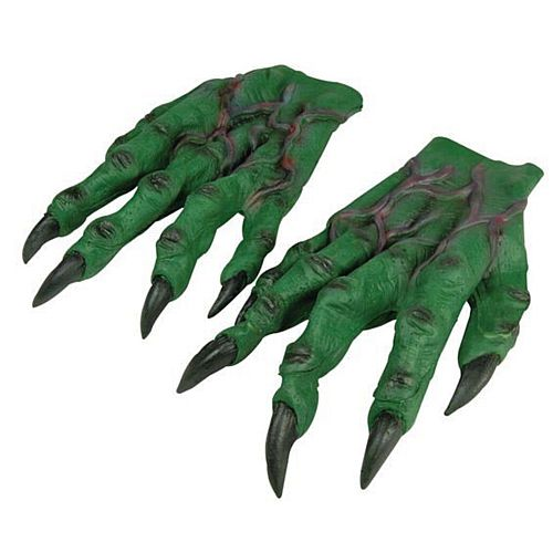 Green Rubber Monster Hands