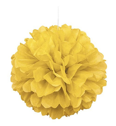 Yellow Pom Pom Value Tissue Decoration - 40cm