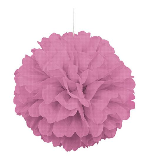 Pink Pom Pom Value Tissue Decoration - 40cm