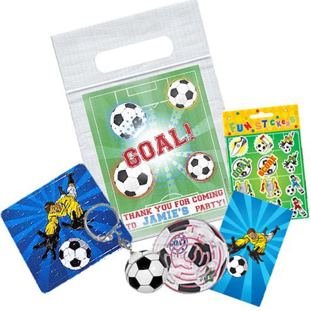 Football Themed Personalised Clear Sealable Bag - With Contents