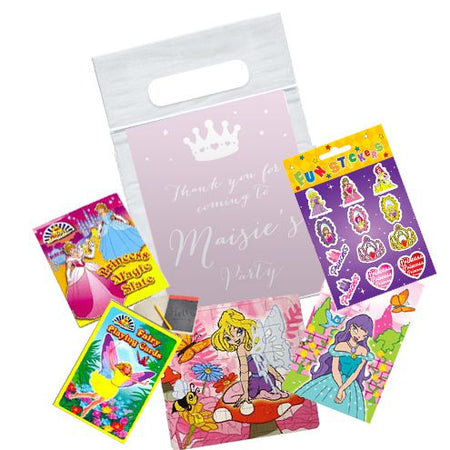 Princess Themed Personalised Clear Sealable Bag - With Contents