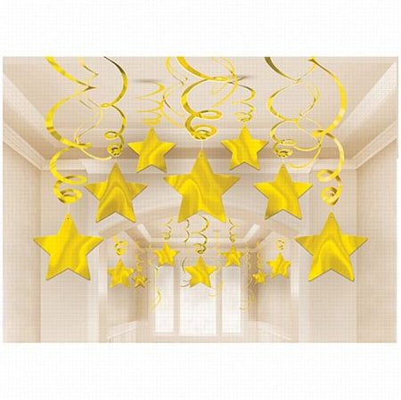 Swirl Party Pack Shooting Stars Gold - Pack of 30