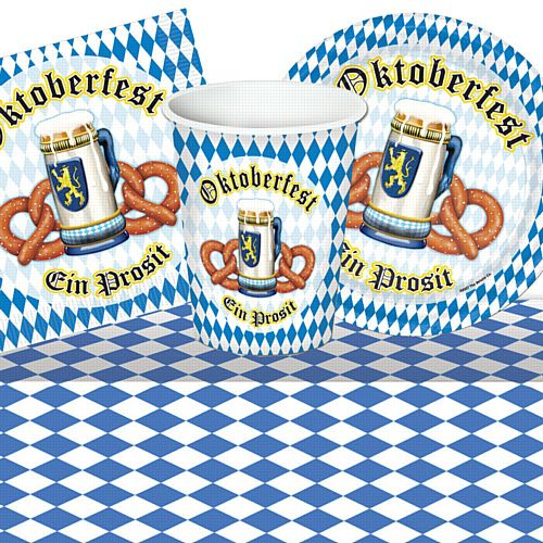 Oktoberfest Tableware Party Pack - For 8