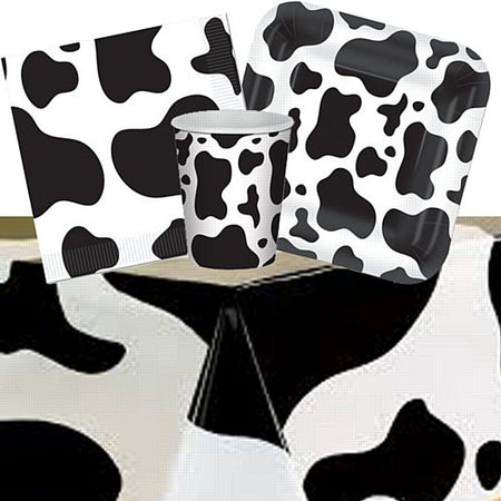 Cow Print Party Pack - For 8