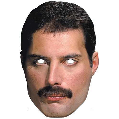 Freddie Mercury Official Queen Card Mask