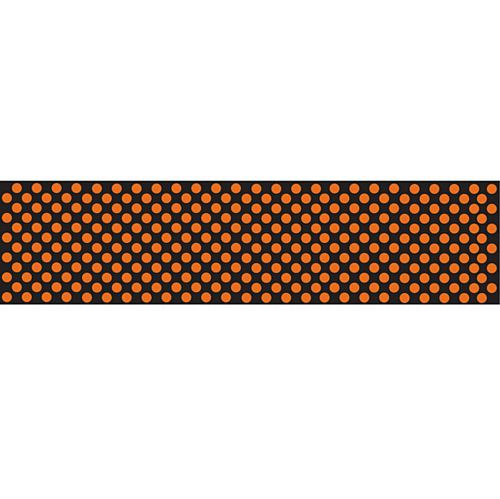 Orange & Black Polka Dot Paper Table Runner - 120cm x 30cm - Each