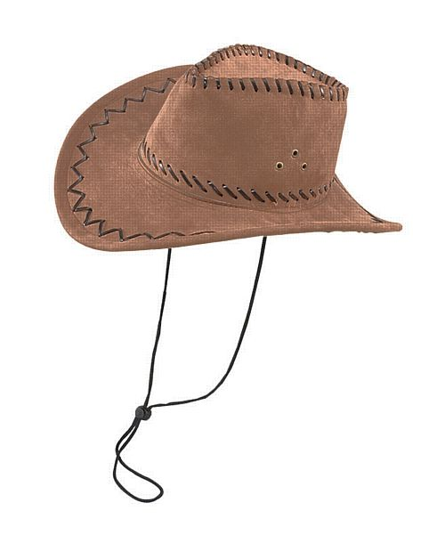 Brown Cowboy Hat With Stitching