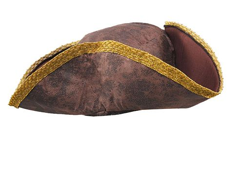 Brown Tricorn Hat