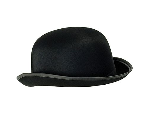Bowler Hat - Black Satin Finish