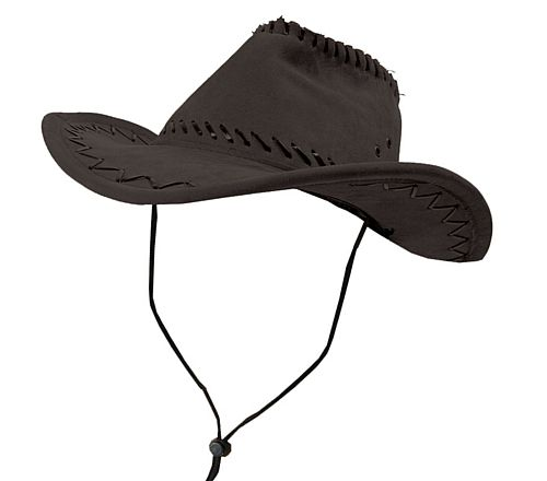 Black Cowboy Hat With Stitching