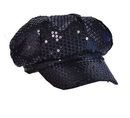 Black Sequin Cap