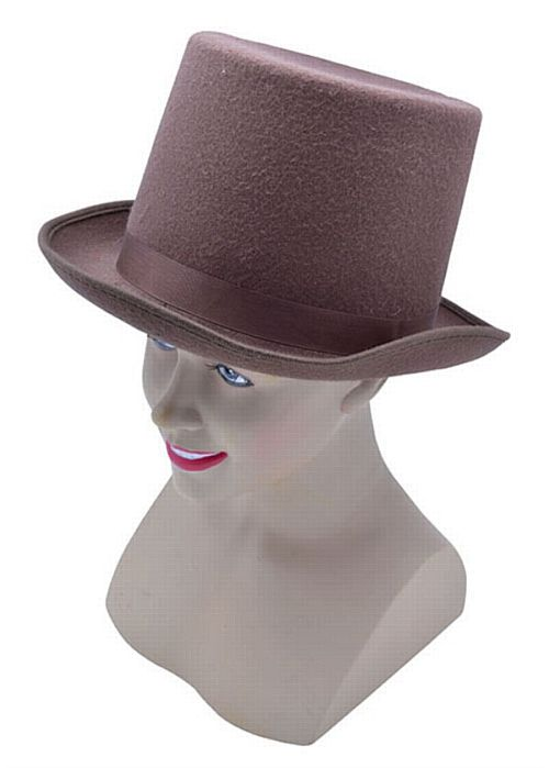 Brown Felt Top Hat