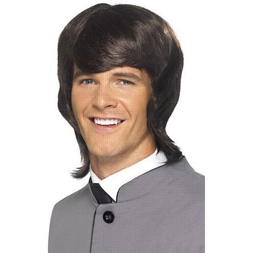 60'S Male Mod Wig, Brown