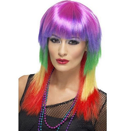 Rainbow Rocker Layered Wig