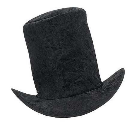 Tall Black Velvet Top Hat