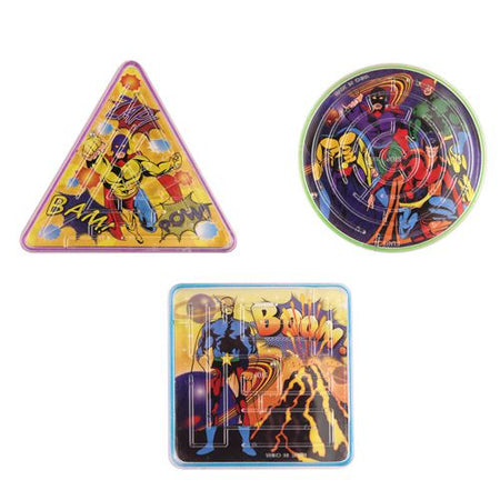 Superhero Puzzle Maze - Assorted Designs - Each