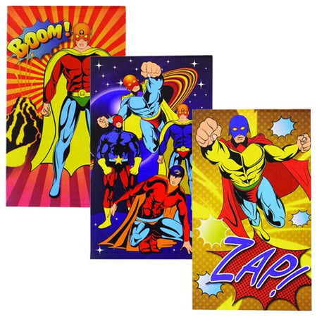 Superhero Notebook - Assorted Designs - Each