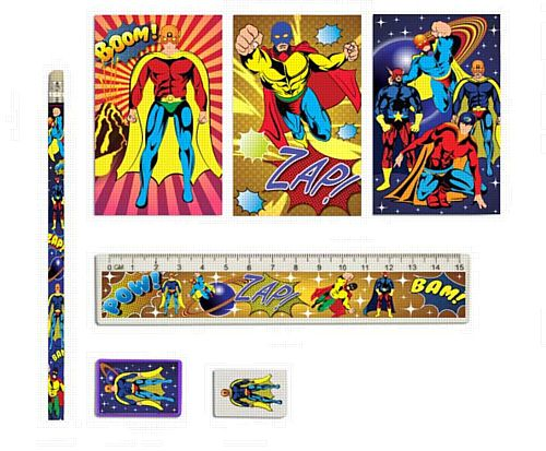 Super Hero Stationery - Set of 5