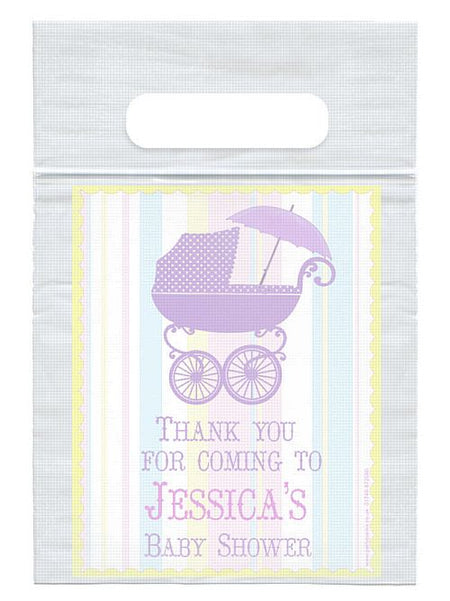 Personalised Baby Shower Card Insert With Sealed Party Bag- Each