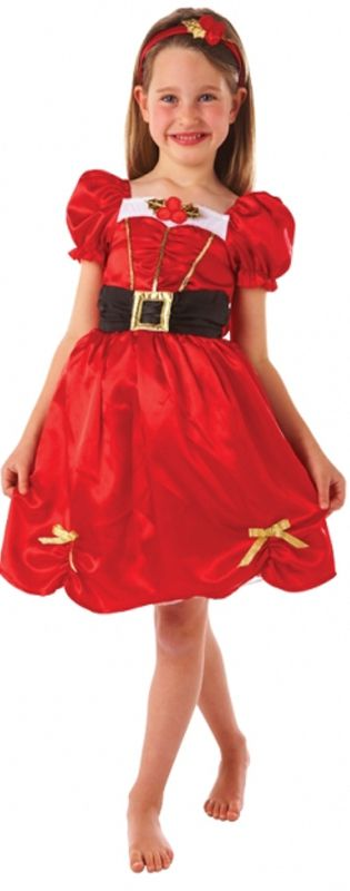 Girls Miss Santa Costume