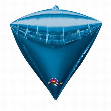 Diamondz Blue Foil Balloon - 43cm