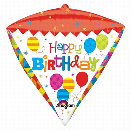 Diamondz Happy Birthday Foil Balloon - 43cm