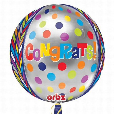 Click to view product details and reviews for Orbz Congrats Congratulations Foil Balloon 38cm.