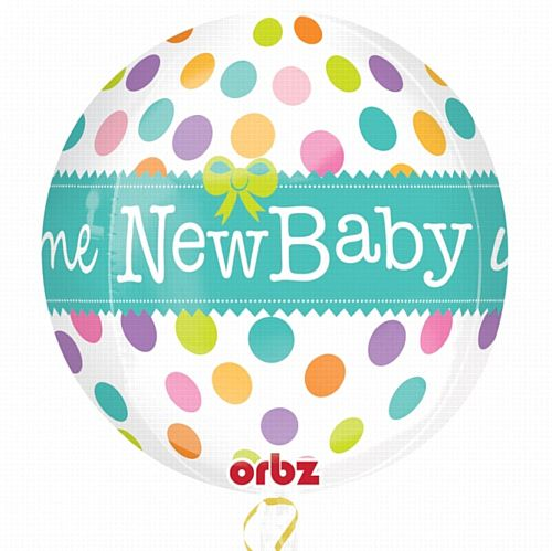 Orbz Welcome New Baby Foil Balloon - 38cm