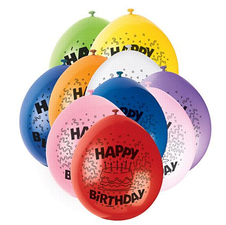Click to view product details and reviews for Happy Birthday Latex Balloons Assorted Colours Pack Of 10.