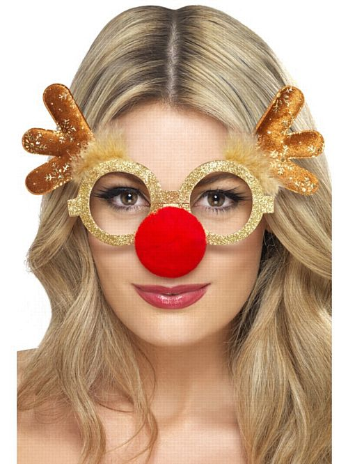 Reindeer Comedy Glasses