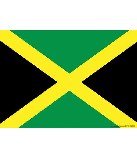 Jamaican Themed Flag Poster - A3