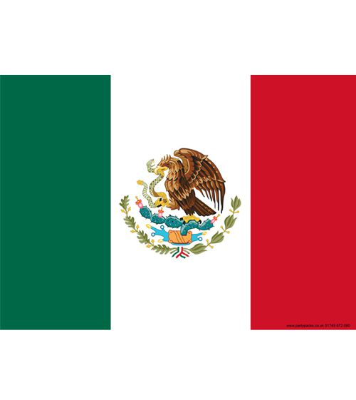 Mexican Themed Flag Poster - A3