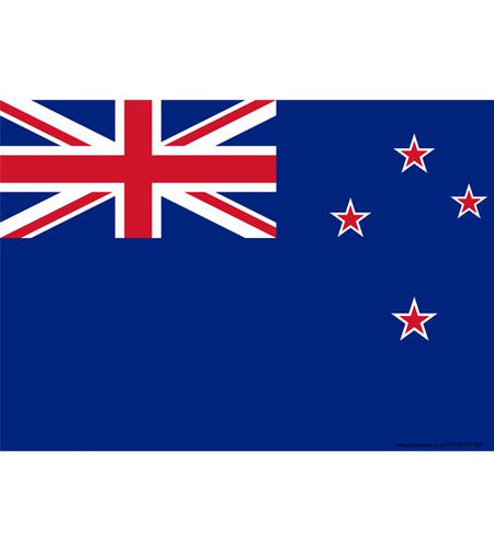 New Zealand Themed Flag Poster - A3