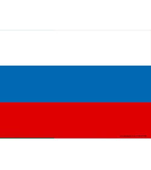 Russian Themed Flag Poster - A3
