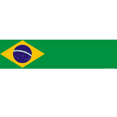 Brazil Themed Flag Banner - 1.20m