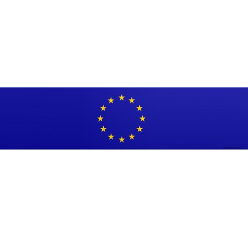 European Union Themed Flag Banner - 120 x 30cm