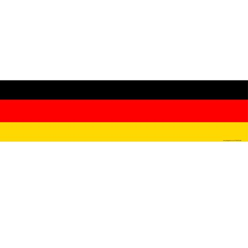 German Themed Flag Banner - 120 x 30cm