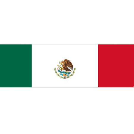 Mexican Themed Flag Banner - 120 x 30cm